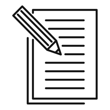Storyteller pencil paper icon, outline style