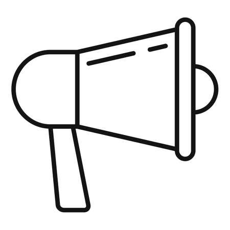 Megaphone storyteller icon, outline style