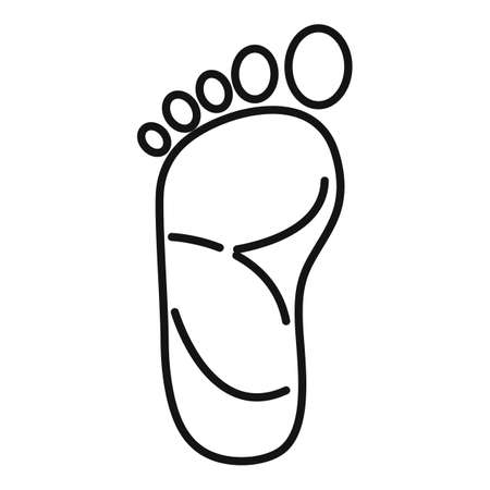 Foot acupuncture icon, outline style Illustration