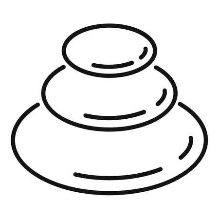 Ayurveda round stones icon, outline style