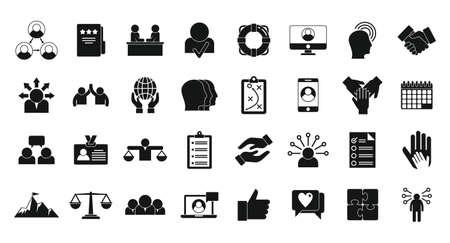Responsibility icons set, simple style Ilustración de vector