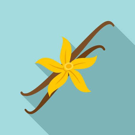 Vanilla flower icon, flat style Ilustrace