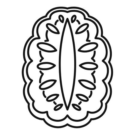 Annona icon, outline style