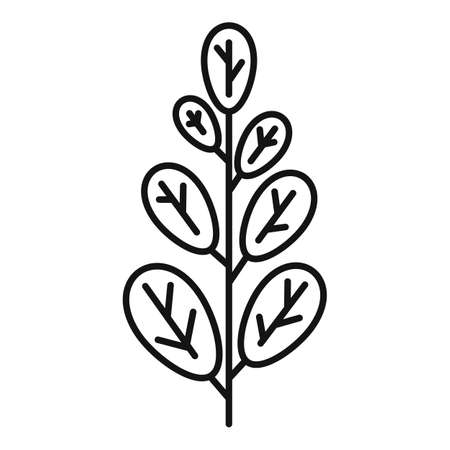 Leafy green icon, outline style