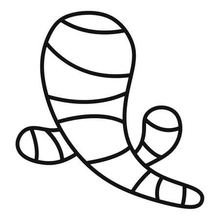 Ginger icon, outline style Ilustração
