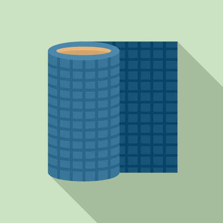 Floor linoleum icon, flat style