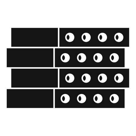 Construction concrete block icon, simple style 向量圖像