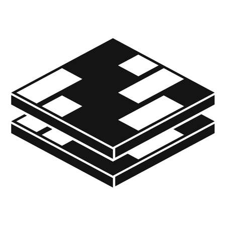 Wood floor tiles icon, simple style