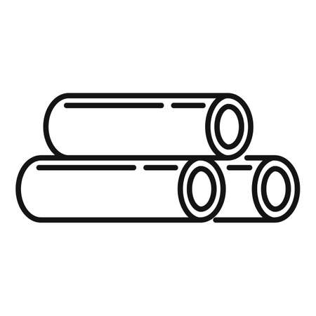 Steel contruction pipes icon, outline style Illustration