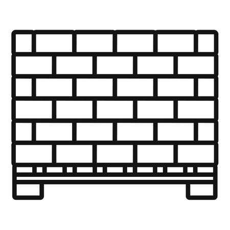 Stone bricks pallet icon, outline style