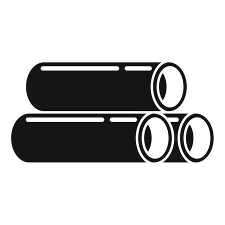 Steel contruction pipes icon, simple style