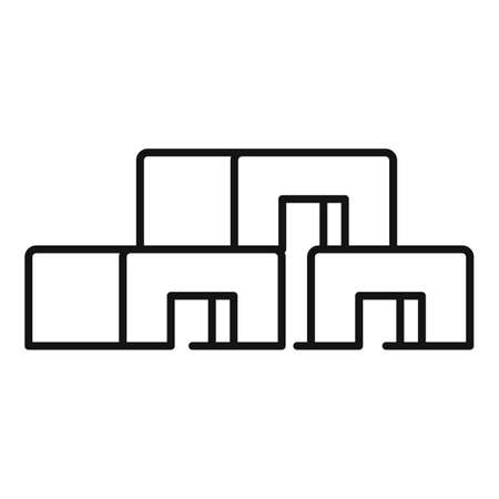 Construction blocks icon, outline style Stock Illustratie