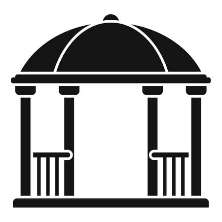 Arch gazebo icon, simple style