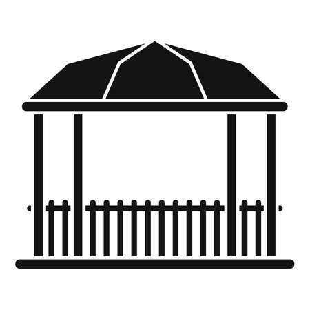 Park gazebo icon, simple style