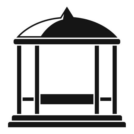 Garden gazebo icon, simple style