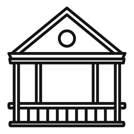 Furniture gazebo icon, outline style Illustration