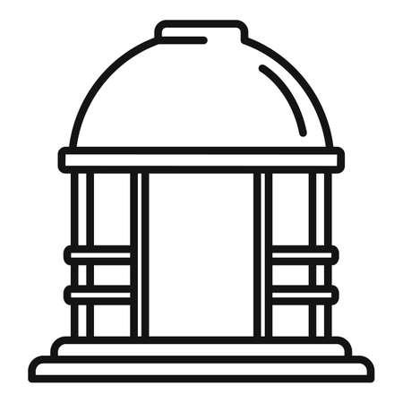 House gazebo icon, outline style