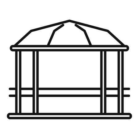 Pavilion gazebo icon, outline style