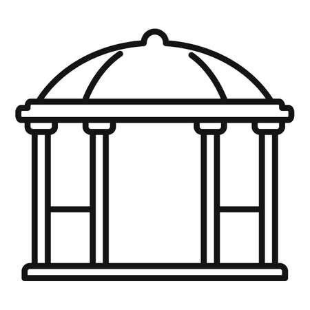 Alcove gazebo icon, outline style
