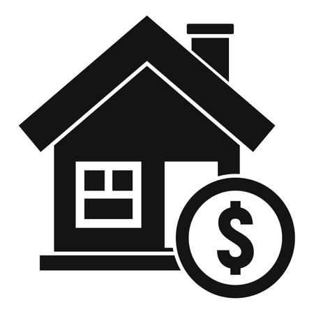 House buy online loan icon, simple style