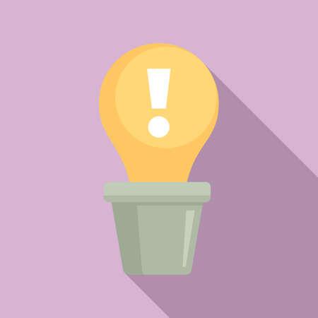 Innovation icon, flat style
