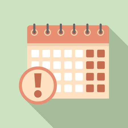 Calendar date innovation icon, flat style