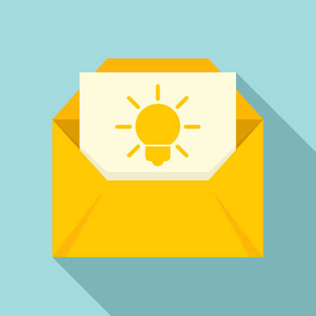 New mail innovation icon, flat style