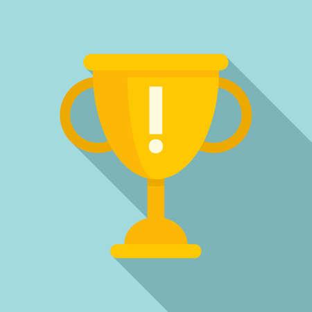 Gold cup innovation icon, flat style Ilustração