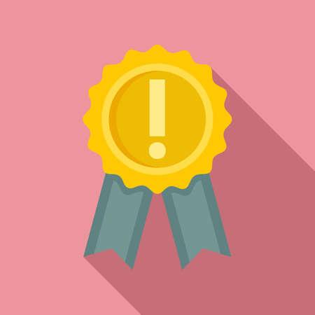 Success emblem innovation icon, flat style Ilustração