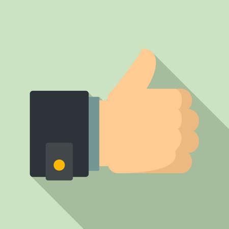 Thumb up innovation icon, flat style Ilustração