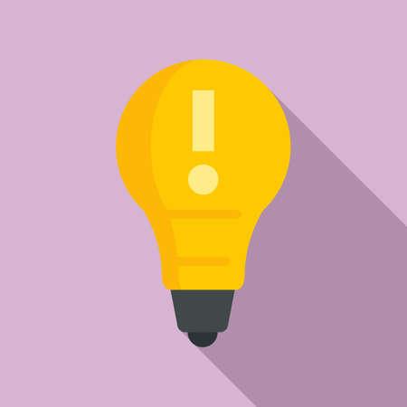 Modern bulb idea icon, flat style
