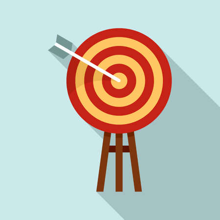 Innovation target icon, flat style