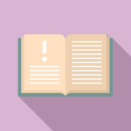 Open innovation book icon, flat style Ilustração