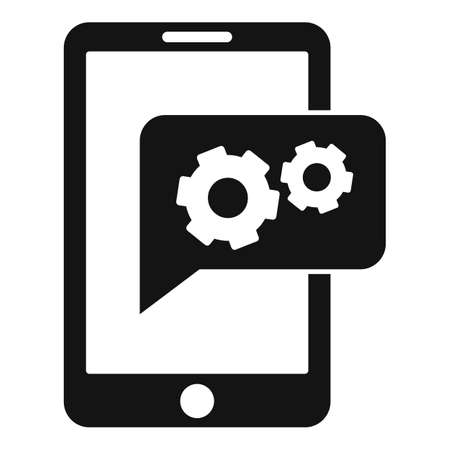 Smartphone gear innovation icon, simple style