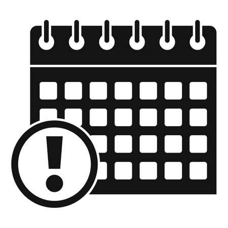 Calendar date innovation icon, simple style Ilustração
