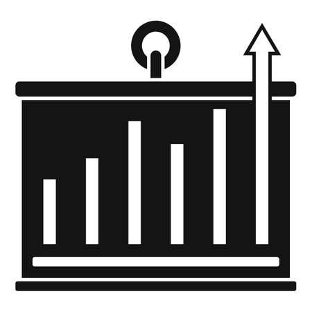Banner graph innovation icon, simple style Ilustração