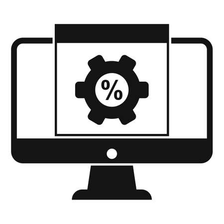 Monitor conversion rate icon, simple style