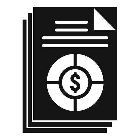 Conversion rate icon, simple style