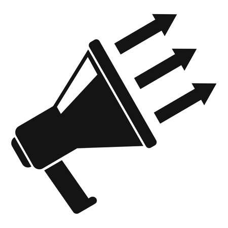 Megaphone conversion rate icon, simple style