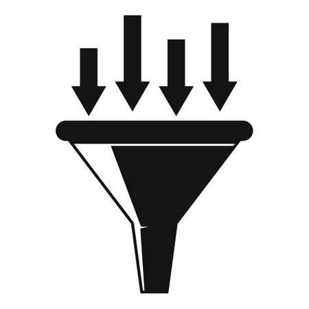 Conversion rate funnel icon, simple style Ilustração