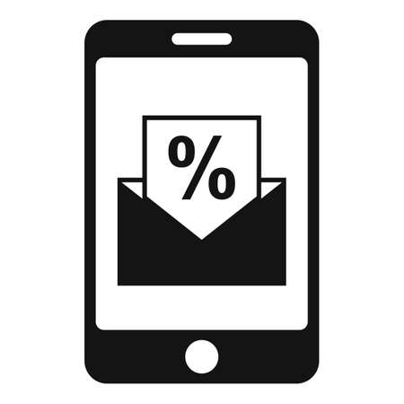 Conversion rate smartphone icon, simple style