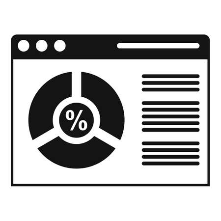 Conversion rate web page icon, simple style