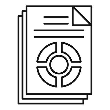 Conversion rate icon, outline style