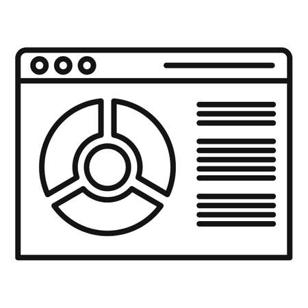 Conversion rate web page icon, outline style