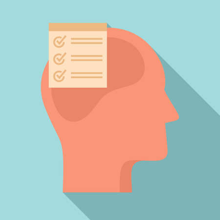 Checklist neuromarketing icon, flat style
