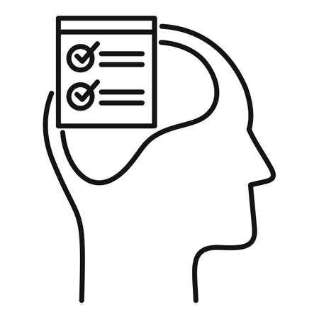 Checklist neuromarketing icon, outline style