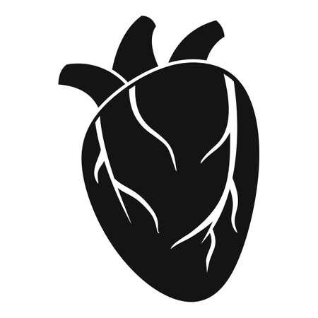 Cardiac human heart icon, simple style