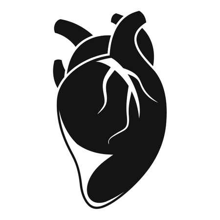 Anatomy human heart icon, simple style