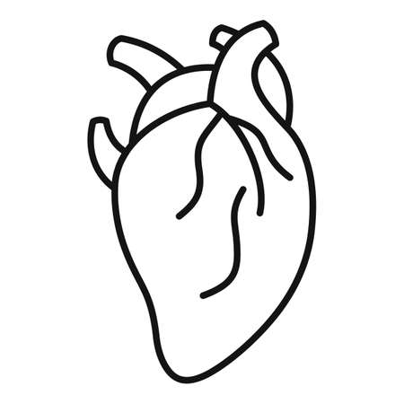 Anatomy human heart icon, outline style