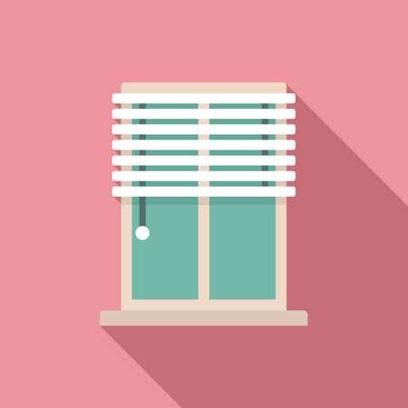 Window installation icon, flat style